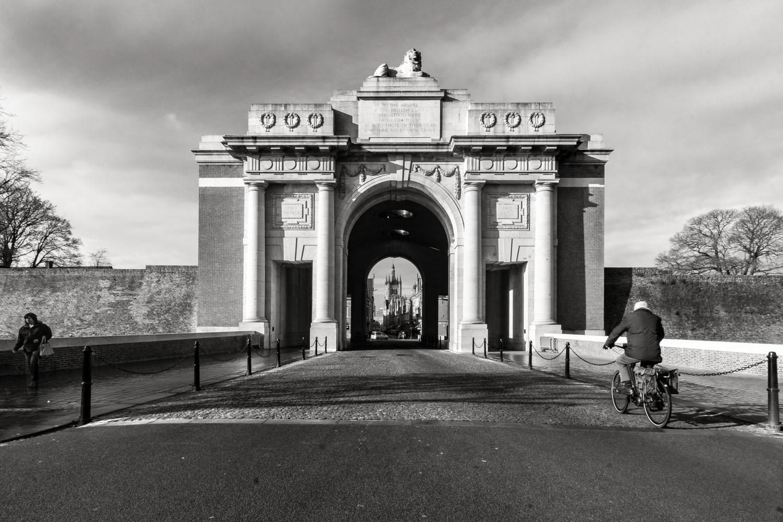 Looking-through-The-Menin-Gate-Ypres-Belgium